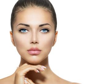 Beautiful Woman Face. Beauty Portrait. Beautiful Spa Woman Touch